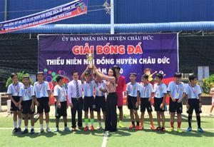 U11, U13 thị trấn Ngãi Giao cùng giành chức vô địch
