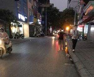 Hệ thống chiếu sáng trên phố Yên Lãng không hoạt động