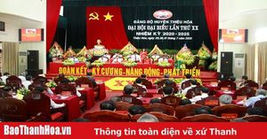 Bế mạc Đại hội Đại biểu Đảng bộ huyện Thiệu Hóa lần thứ XX