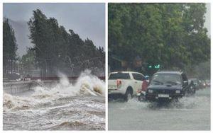 Ghi nhận thiệt hại ban đầu do bão số 2, nhiều nơi ngập úng