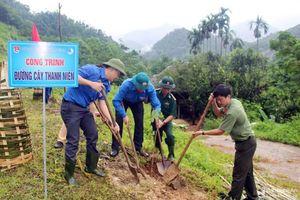 Nhiều hoạt động tình nguyện tại xã biên giới của Nghệ An