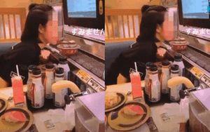 Phản cảm hành động 'liếm sushi trên băng chuyền' của cô gái Việt tại Nhật giữa thời điểm dịch COVID-19 đang căng thẳng
