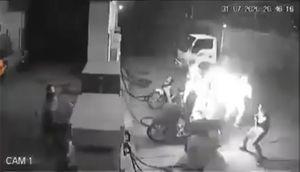 Xử lý nhóm thanh niên hút thuốc gây cháy tại cây xăng ở Hà Nội