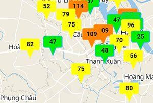 Chất lượng không khí nhiều nơi ở mức kém