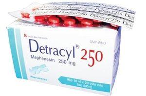 Thu hồi toàn quốc thuốc viên nén bao đường Detracyl 250 không đạt chất lượng