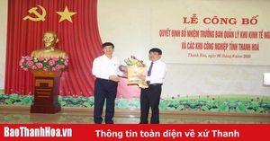 Đồng chí Nguyễn Tiến Hiệu giữ chức Trưởng Ban Quản lý Khu Kinh tế Nghi Sơn và Các Khu công nghiệp tỉnh Thanh Hóa