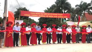 Lễ khánh thành công trình Đường về biên giới Giồng Két trên địa bàn huyện Đức Huệ, Long An