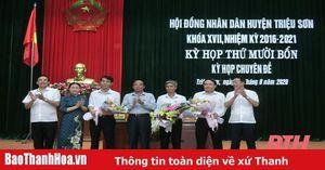 HĐND huyện Triệu Sơn khóa XVII bầu chức danh Phó Chủ tịch UBND huyện