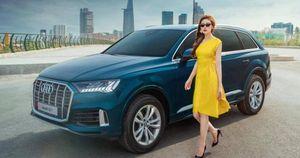 Á hậu Dương Tú Anh rực rỡ bên Audi Q7 vừa ra mắt tại Việt Nam