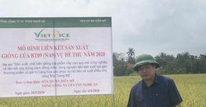 Thứ trưởng Lê Quốc Doanh kiểm tra dự án sản xuất giống lúa phẩm cấp cao