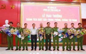 Nghệ An: Trao thưởng 75 triệu đồng cho công an phá nhiều chuyên án lớn