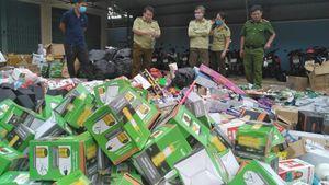 Gia Lai: Tiêu hủy trên 10 tấn hàng hóa nhập lậu, không rõ nguồn gốc