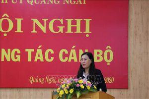Chuẩn y đồng chí Bùi Thị Quỳnh Vân giữ chức Bí thư Tỉnh ủy Quảng Ngãi