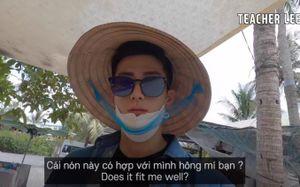 Nón lá Việt Nam giải cứu chàng trai Hàn Quốc khỏi... nắng nóng Bến Tre