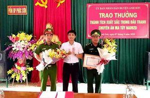 Khen thưởng lực lượng đấu tranh thành công Chuyên án NA 0920