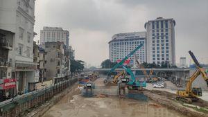 Cận cảnh tiến độ thi công ga ngầm S9 - Kim Mã tuyến metro Nhổn - ga Hà Nội