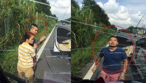 Xin vượt không thành, ô tô tải bị tài xế xăm trổ ở Hà Nội hung hãn đấm vỡ kính