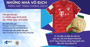 100 triệu đồng cho áo đấu Bayern Munich và HCV Cúp Quốc gia