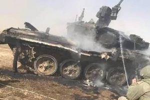 Nóng: Xe tăng T-90 trúng tên lửa đồng đội, vỡ nát tan tành!