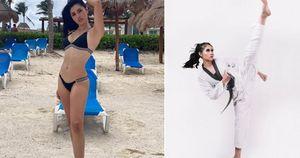 Đường cong nuột nà của á quân Taekwondo đăng quang Hoa hậu Trái đất Mexico