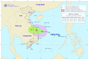 Áp thấp nhiệt đới mạnh lên thành bão số 6, dự báo vào đất liền chiều 11/10