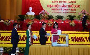 Công bố kết quả bầu Ban Chấp hành Đảng bộ Hà Tĩnh khóa XIX