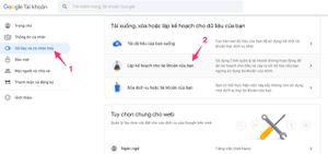 Cách xóa tài khoản Google tự động