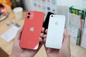 iPhone 12 đọ dáng với iPhone 5