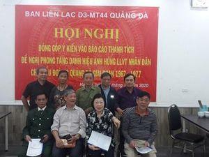 Đề nghị phong tặng danh hiệu Anh hùng LLVT nhân dân cho Tiểu đoàn 3 Quảng Đà