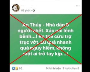 Quảng Bình: Đăng tin sai sự thật về mưa lũ, 2 người bị phạt 10 triệu đồng
