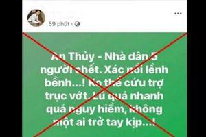 Quảng Bình: 2 người bị phạt 10 triệu đồng vì đăng tin sai sự thật về mưa lũ