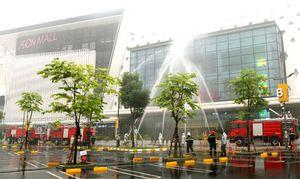 Hơn 600 người tham gia diễn tập PCCC ở Aeon Mail Hà Đông