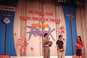 Trao giải thưởng cuộc thi 'Dịch thuật Ragnarok'