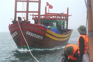 Cứu tàu gặp nạn cùng 8 ngư dân vào bờ an toàn