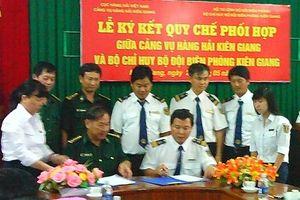 Ký kết quy chế phối hợp hoạt động giữa Cảng vụ Hàng hải và BĐBP Kiên Giang