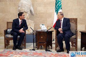 Đại sứ Đỗ Hoàng Long trình Thư ủy nhiệm lên Tổng thống Lebanon