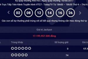 Kết quả Vietlott ngày 18.6: Giải Jackpot 17 tỷ chưa tìm thấy chủ nhân