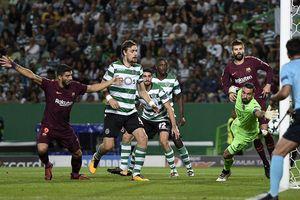 Messi câm nín, Barca thắng 'rùa' trước Sporting Lisbon