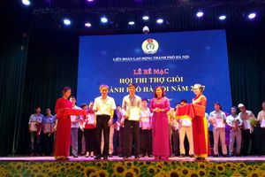 Hơn 60 giải xuất sắc được trao cho thợ giỏi thành phố Hà Nội