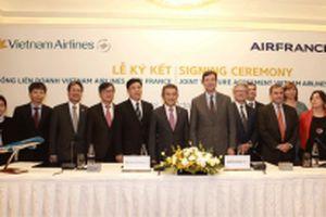 Vietnam Airlines hợp tác hàng không với Air France