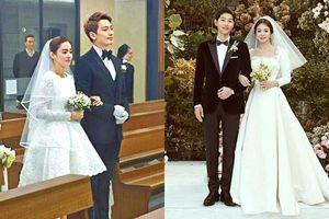 Không chỉ Song Hye Kyo mà loạt sao Hàn này cũng chọn váy cưới siêu giản dị