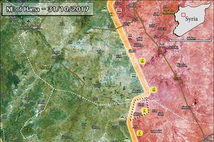 Trực thăng Nga khạc đạn, quân đội Syria tràn tới diệt phiến quân ở Hama (video)