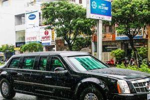 Hình ảnh siêu xe của Tổng thống Mỹ Donald Trump trên đường phố Đà Nẵng