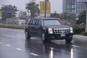 Đoàn siêu xe của Tổng thống Mỹ lăn bánh trên đường phố Đà Nẵng