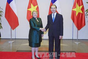 Chủ tịch nước chủ trì Quốc yến chào mừng Tổng thống Chile Michelle Bachelet