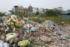 Tái diễn tình trạng rác, phế thải 'bức tử' Đầm Hồng