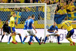 Thụy Điển hạ tuyển Ý ở lượt đi play-off vòng loại World Cup