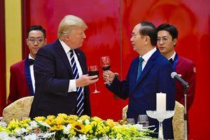 Tổng thống Trump dự tiệc chiêu đãi cấp Nhà nước Việt Nam