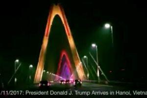 Cầu Nhật Tân ở Hà Nội xuất hiện trên Instagram tổng thống Mỹ