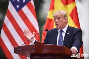 Tổng thống Donald Trump: 'Tôi muốn cám ơn người Việt Nam vì sự đón tiếp nồng hậu này'